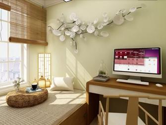 70平米日式风格书房装修案例