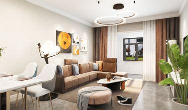 130平米三室一厅现代简约风格客厅图片大全