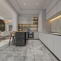 140平米四室三厅法式风格厨房设计图