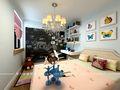 90平米现代简约风格儿童房背景墙图片大全