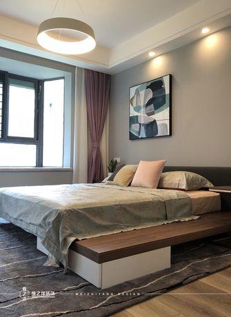 豪华型60平米三室一厅现代简约风格卧室图片大全
