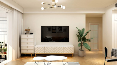80平米法式风格客厅装修案例