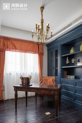 140平米复式美式风格书房设计图