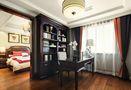 120平米三室两厅英伦风格书房图