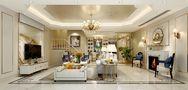 140平米三室三厅欧式风格客厅装修案例