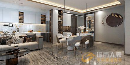 140平米公寓现代简约风格餐厅欣赏图