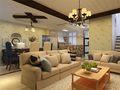 140平米四室三厅田园风格客厅图片