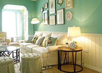 90平米三室一厅田园风格客厅欣赏图