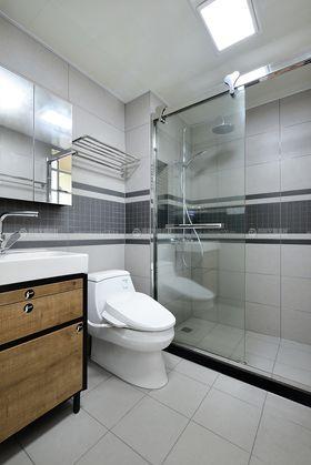 80平米三室两厅田园风格卫生间图片