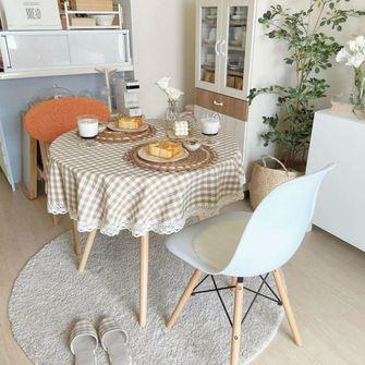 80平米一室一厅田园风格餐厅效果图