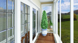 80平米美式风格阳台设计图