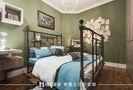 140平米复式美式风格卧室背景墙欣赏图
