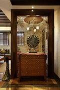 豪华型120平米三室一厅东南亚风格玄关图