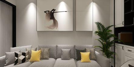 30平米小户型现代简约风格客厅设计图