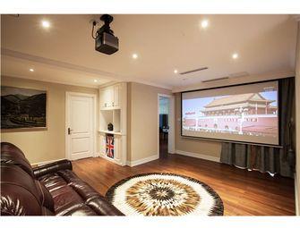 140平米四室三厅混搭风格影音室图片大全