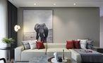 120平米三室一厅宜家风格客厅装修效果图