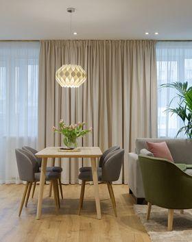 富裕型50平米一室一厅北欧风格餐厅装修图片大全