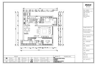 140平米复式新古典风格客厅设计图