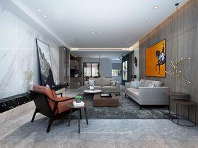 140平米三现代简约风格客厅设计图