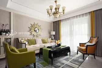 80平米美式风格客厅装修效果图