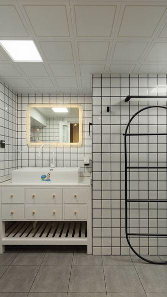 90平米一居室现代简约风格卫生间图片大全