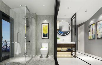130平米四室两厅现代简约风格卫生间背景墙装修案例