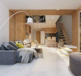 70平米复式北欧风格楼梯间设计图