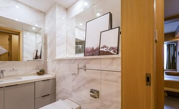 130平米三室两厅日式风格卫生间图片