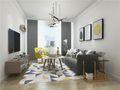 90平米三室两厅北欧风格客厅装修案例