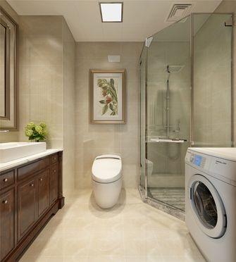 140平米三美式风格卫生间图片