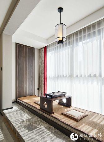 130平米三室一厅中式风格阳台装修图片大全