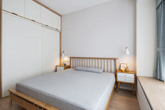 140平米四室两厅北欧风格卧室图片