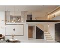 60平米复式现代简约风格客厅装修图片大全
