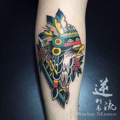 鹰纹身款式图