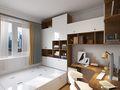 80平米三室两厅日式风格儿童房效果图