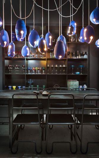 140平米复式混搭风格餐厅图片