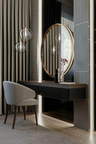130平米三室两厅欧式风格梳妆台设计图
