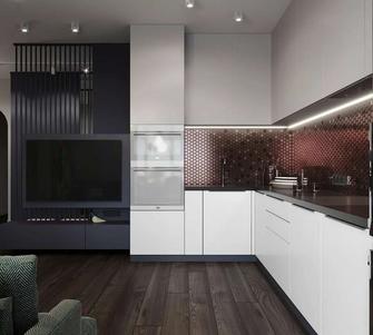 60平米公寓新古典风格厨房设计图