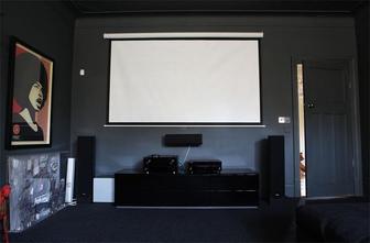 10-15万80平米三室一厅英伦风格影音室图