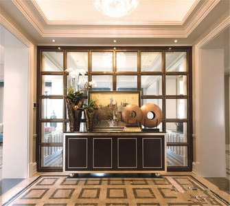 富裕型130平米四室三厅美式风格玄关门口装修效果图