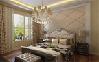 140平米别墅欧式风格卧室窗帘欣赏图