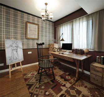 130平米三室一厅田园风格书房设计图