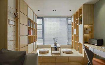 50平米一居室日式风格书房设计图