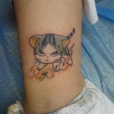 卡通猫纹身图