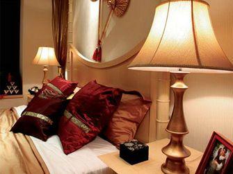 130平米三室两厅东南亚风格卧室图片