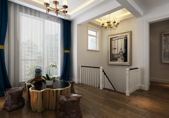 140平米三室两厅欧式风格楼梯间图片