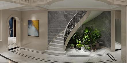 140平米别墅欧式风格楼梯间装修效果图