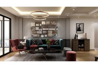 140平米三室一厅混搭风格客厅效果图