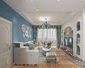 80平米三室两厅地中海风格客厅装修案例