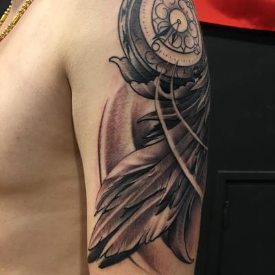 天使翅膀纹身款式图
